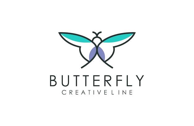 Minimalistisch vlinderlogo