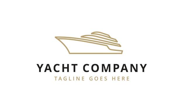 Minimalistisch yacht / cruise logo-ontwerp