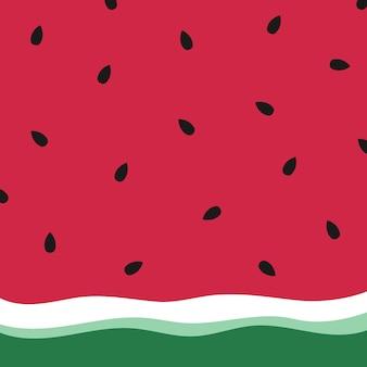 Minimalistisch zomer watermeloen behang.