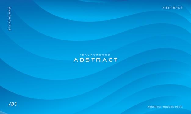 Minimalistische abstracte blauwe golven achtergrond met kleurovergang