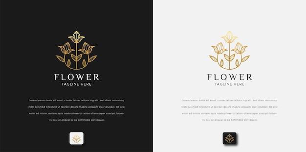 Minimalistische abstracte bloem roos luxe schoonheidssalon, mode, huidverzorging, cosmetica, yoga en spa-producten