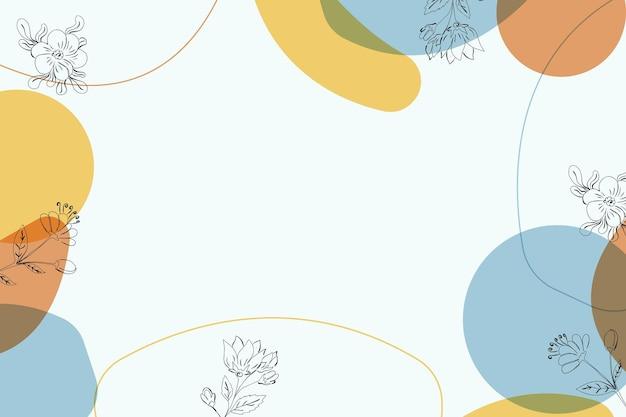 Minimalistische achtergrond lijntekeningen bloem halverwege de eeuw