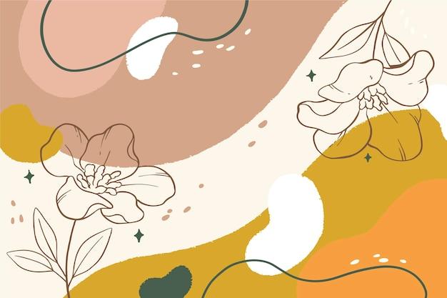 Minimalistische achtergrond met bloemen