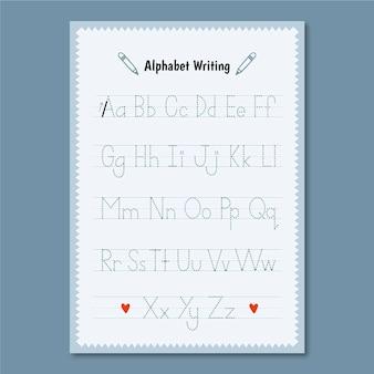 Minimalistische alfabet traceringssjabloon
