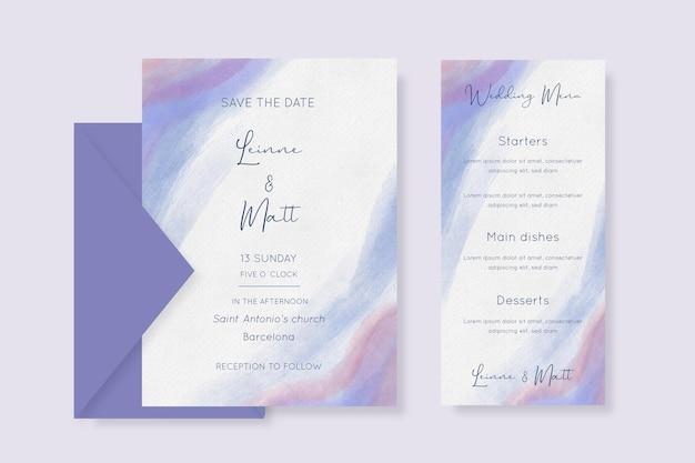 Minimalistische aquarel bruiloft briefpapier