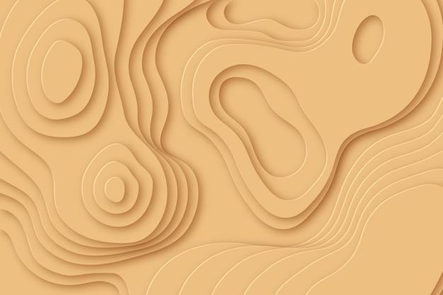 Minimalistische beige topografische kaart achtergrond