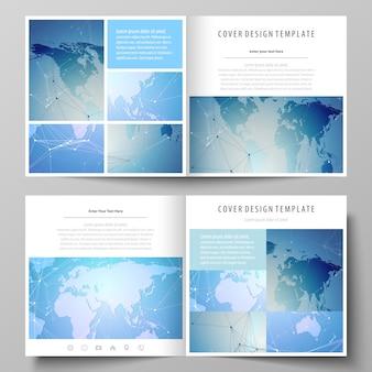 Minimalistische bewerkbare lay-out van twee covers