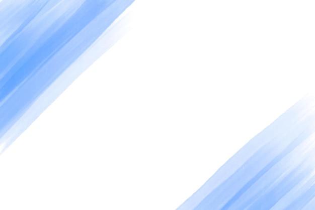Minimalistische blauwe penseelstreken achtergrond Gratis Vector