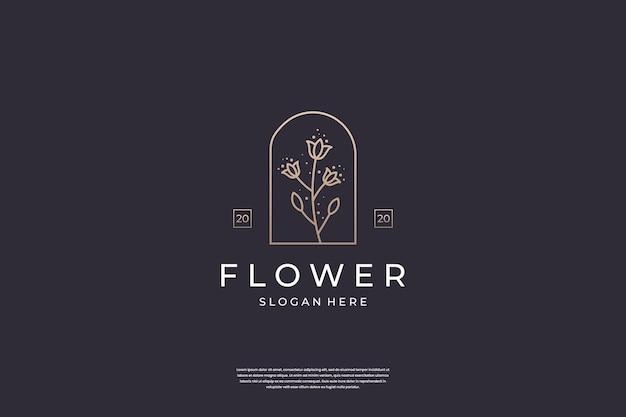 Minimalistische bloem roos logo ontwerp inspiratie.