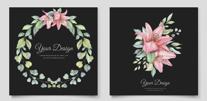 minimalistische bloemen bruiloft kaartenset