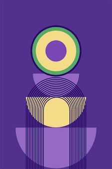 Minimalistische boho poster of t-shirt print design patroon achtergrond