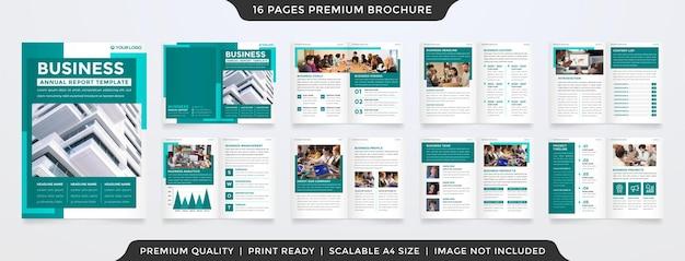 Minimalistische brochure premium vector