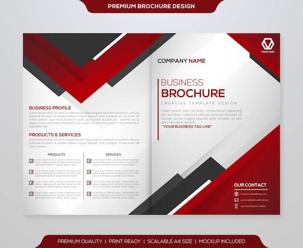 Minimalistische brochure sjabloon vector