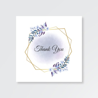 Minimalistische bruiloft kaart bedankt sjabloon