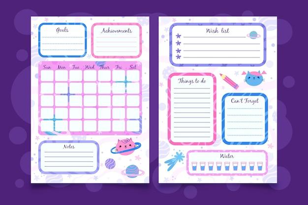 Minimalistische bullet journal planner