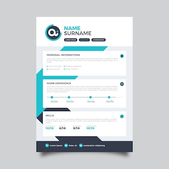 Minimalistische cv-template