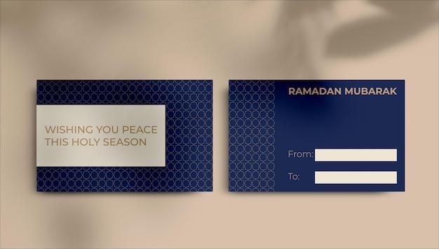 Minimalistische decoratieve ramadan cadeau-tag sjabloon