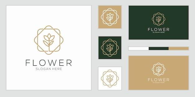 Minimalistische elegante bloem roos lijn kunststijl. luxe schoonheidssalon, mode, huidverzorging, cosmetica, yoga en spa-producten.