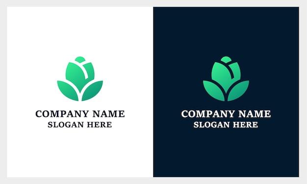 Minimalistische elegante bloem roos luxe schoonheidssalon, mode, huidverzorging, cosmetica, yoga en spa-producten, monogram bloeit logo-ontwerp