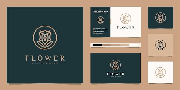 Minimalistische elegante bloem roos luxe schoonheidssalon, mode, huidverzorging, cosmetica, yoga en spa-producten.