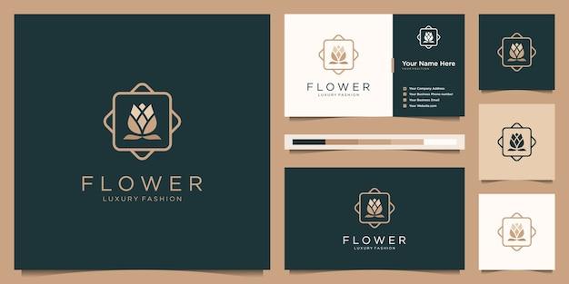 Minimalistische elegante bloem roos luxe schoonheidssalon, mode, huidverzorging, cosmetica, yoga en spa-producten