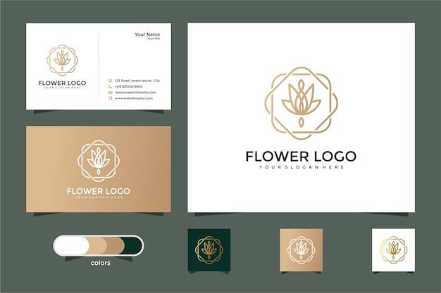 Minimalistische elegante bloem roos luxe schoonheidssalon, mode, huidverzorging en visitekaartje