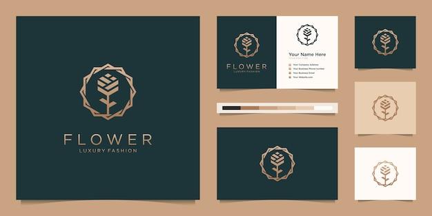 Minimalistische elegante bloemenroos luxe schoonheidssalon, mode, huidverzorging, cosmetica, yoga en spa-producten.