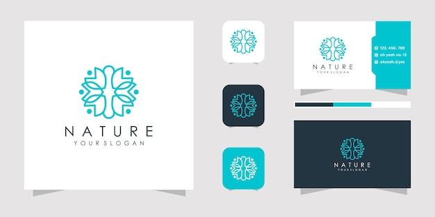 Minimalistische elegante bloemenroos voor schoonheid, cosmetica, yoga en spa. logo en visitekaartje.