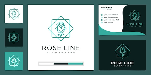 Minimalistische elegante bloemluxe schoonheid, mode, huidverzorging, cosmetica met visitekaartje. Premium Vector