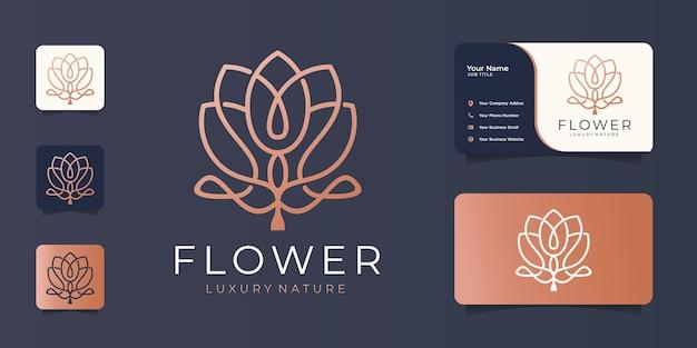 Minimalistische elegante bloemluxe schoonheid, mode, huidverzorging, cosmetica met visitekaartje.