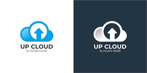 Minimalistische elegante cloud-logoset
