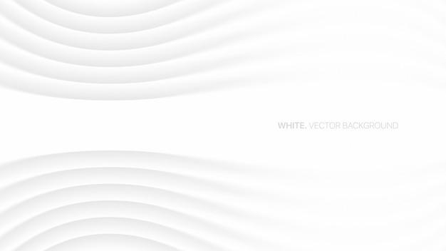 Minimalistische elegante witte conceptuele futuristische 3d technologie