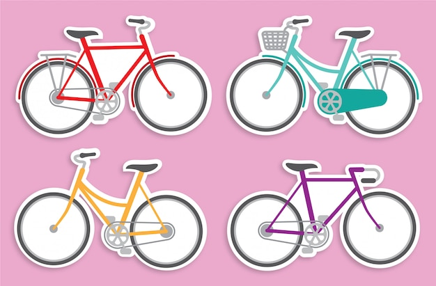 Minimalistische fietsstickers