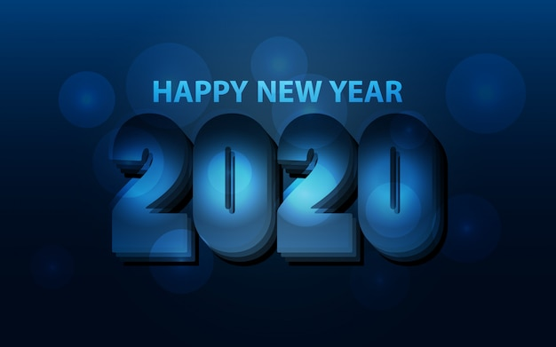 Minimalistische gelukkig nieuwjaar 2020-achtergrond