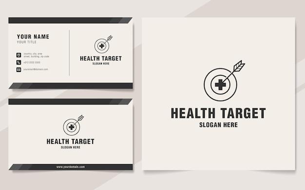 Minimalistische gezondheidsdoel logo sjabloon monogram stijl