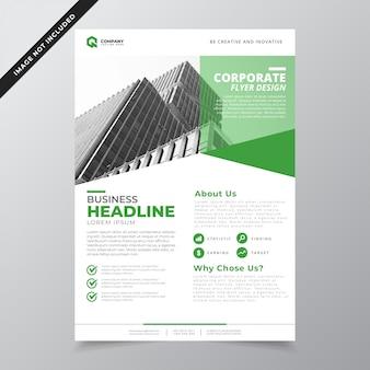 Minimalistische groene bedrijf folder sjabloon