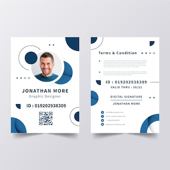 Minimalistische id-kaartensjabloon