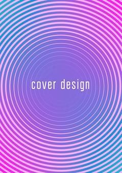 Minimalistische kleurrijke abstracte dekking