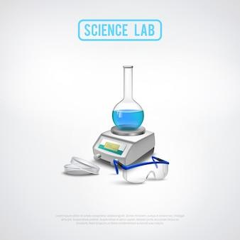 Minimalistische laboratoriumapparatuur samenstelling