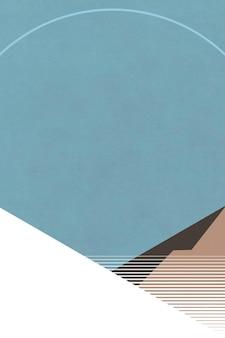 Minimalistische landschap retro posterstijl