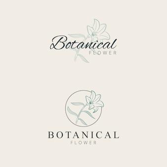 Minimalistische lelie bloem logo ontwerp hand tekenen
