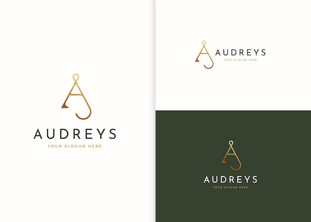 Minimalistische letter a logo ontwerpsjabloon