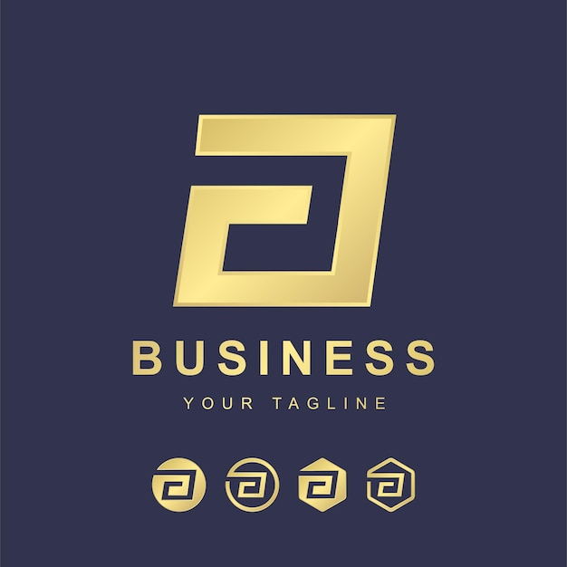 Minimalistische letter a logo sjabloonontwerp. modern logo concept met gouden verloop effect