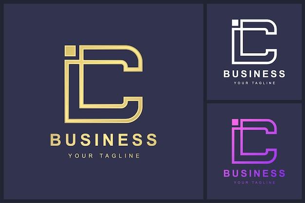 Minimalistische letter c logo sjabloonontwerp