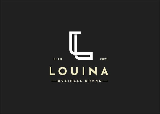 Minimalistische letter l logo ontwerpsjabloon illustraties