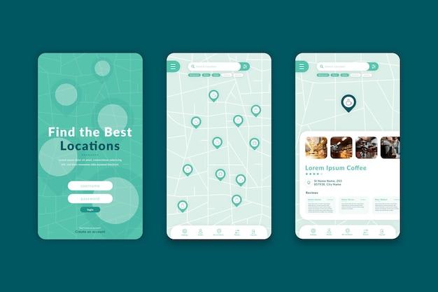Minimalistische locatie-app-sjabloon