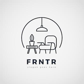 Minimalistische meubels logo achtergrond