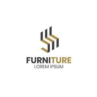 Minimalistische meubels logo sjabloon