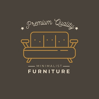 Minimalistische meubels logo sjabloonontwerp