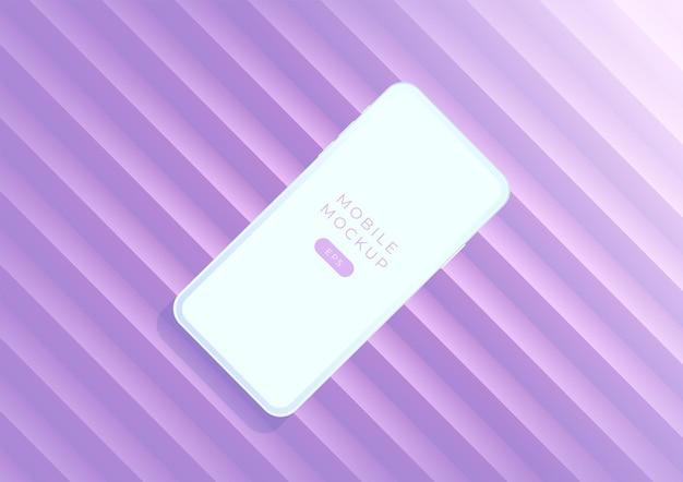 Minimalistische mockup-smartphones voor presentatie